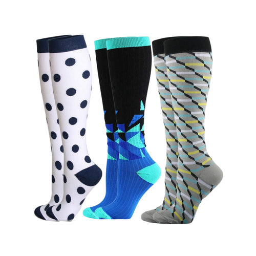 Buy Sistasaidso+ 3-Set 'Resort' Compression Socks Online - Sistasaidso+
