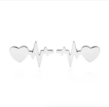 Load image into Gallery viewer, Buy Sistasaidso+ Heartbeat Stud Earrings Online - Sistasaidso+