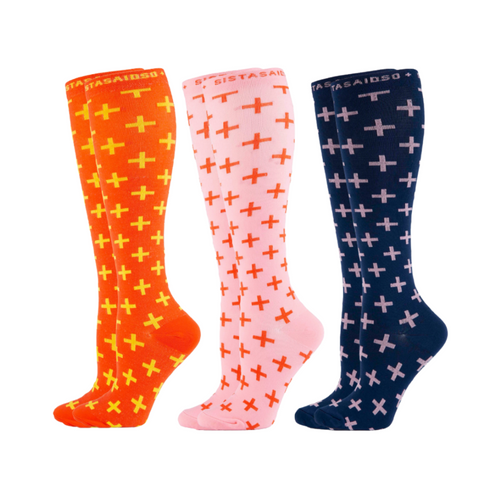 Sistasaidso+ 3-Set 'On-Shift' Compression Socks Online