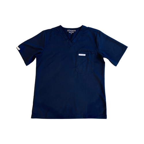 Buy Sistasaidso+ Men's V-Neck Scrub Top (Navy) Online - Sistasaidso+