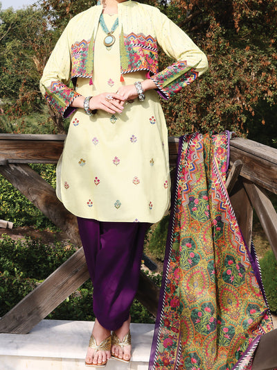 Almirah ALP-3PS 1038 Lime Lawn Collection