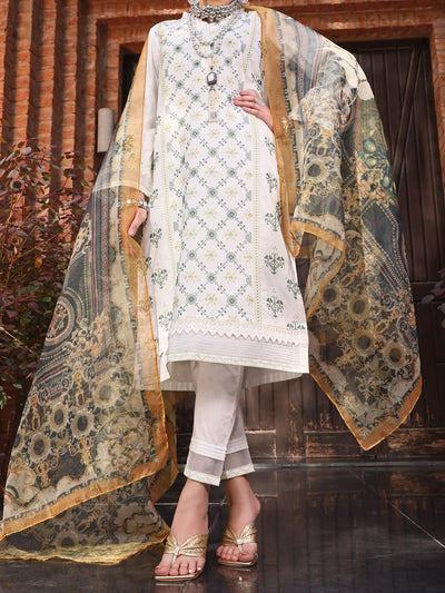 Almirah ALP-3PS 1064 White Lawn Collection