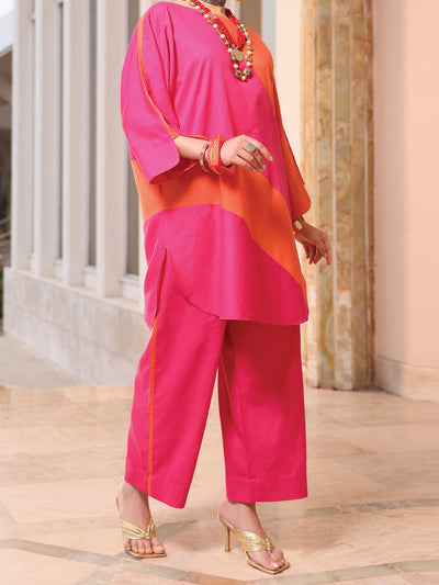 Pink Lawn 2 Piece Stitched - ALP-2PS-LKS-1066