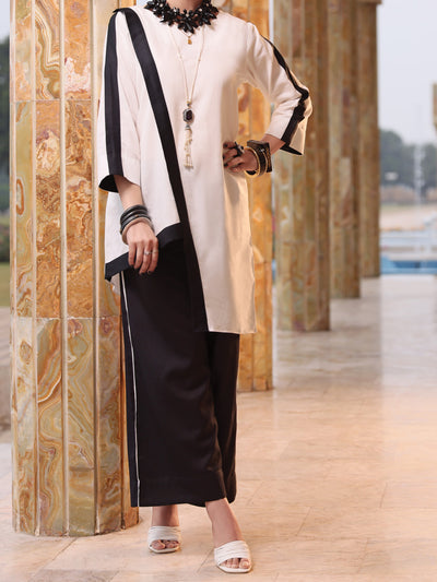 Black & White Lawn 2 Piece Stitched - ALP-2PS-LKS-1069