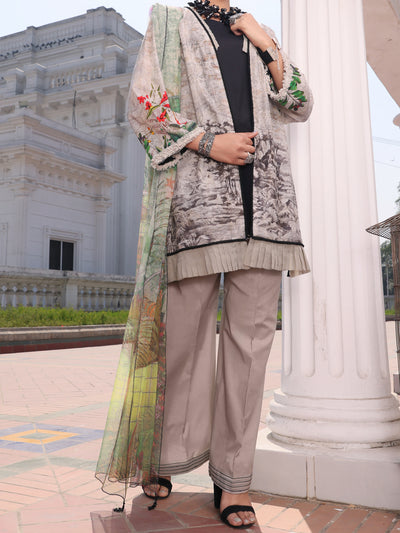 Grey Lawn 3 Piece Stitched - ALP-3PS-1129/S