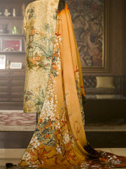 Natural Jacquard 3 Piece Stitched - AWP-189