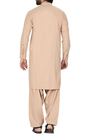 Light Brown Poly Viscose Kameez Shalwar - AL-KS-2357