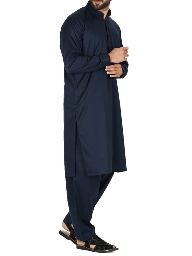 Blue Cotton Kameez Shalwar - AL-KS-2386