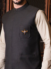 Black Suiting Waistcoat - WC-248