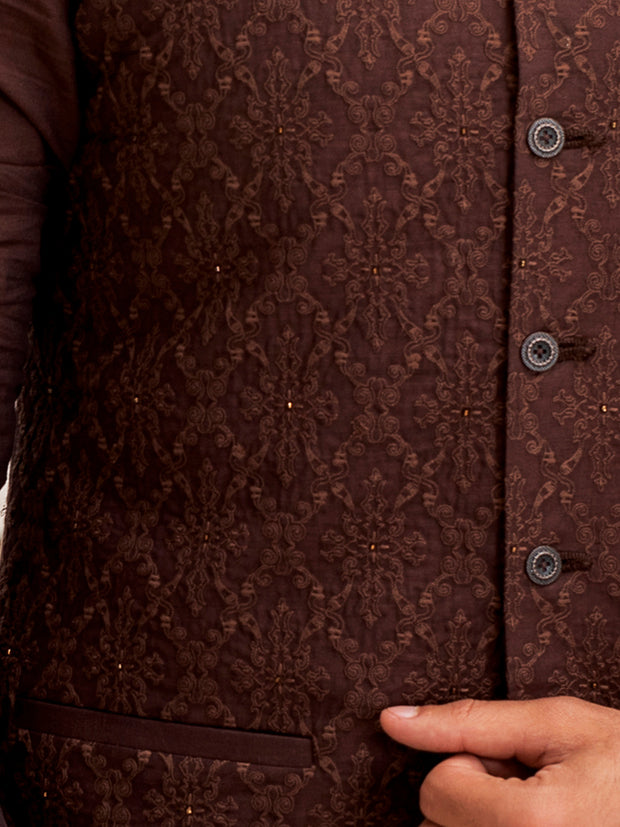 Brown Cotton Waistcoat - WC-262A