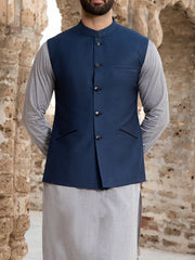 Blue Suiting Waistcoat - WC-263