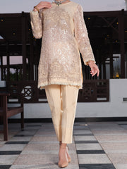 Peach Viscose 2 Piece Formal - AL-2PS-LS-282