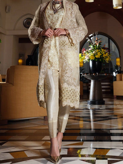 Cream 2 Piece Formal Stitched - AL-2PS-LS-283