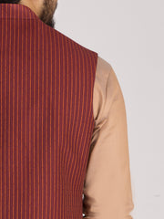 Red Suiting Waistcoat - AL-WC-330