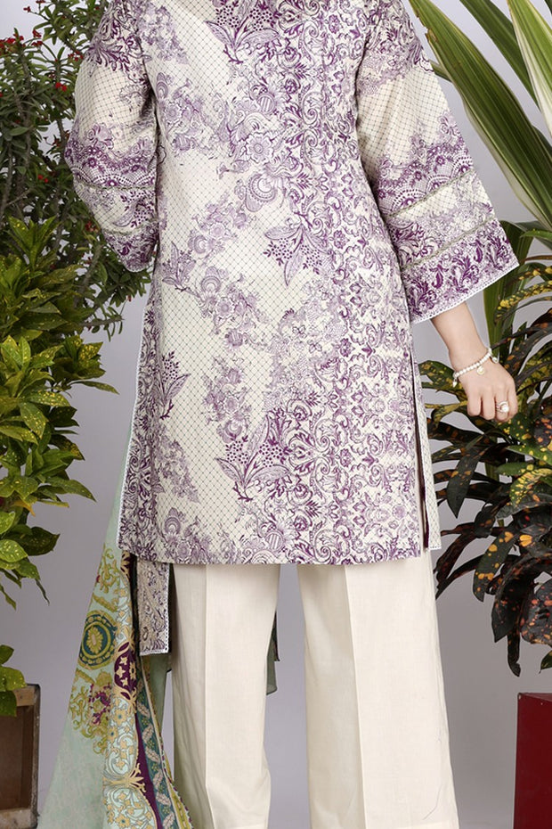 Purple Lawn 3 Piece Stitched - ALP-710