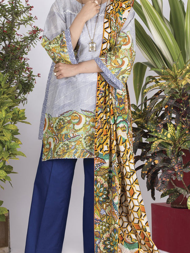 Multicolor Lawn 3 Piece Stitched - ALP-713
