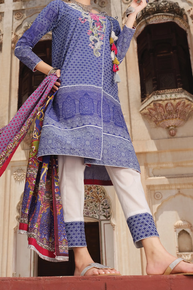 Blue Lawn 3 Piece Unstitched - ALP-721