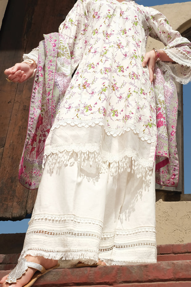 Natural Lawn 3 Piece Stitched - ALP-724