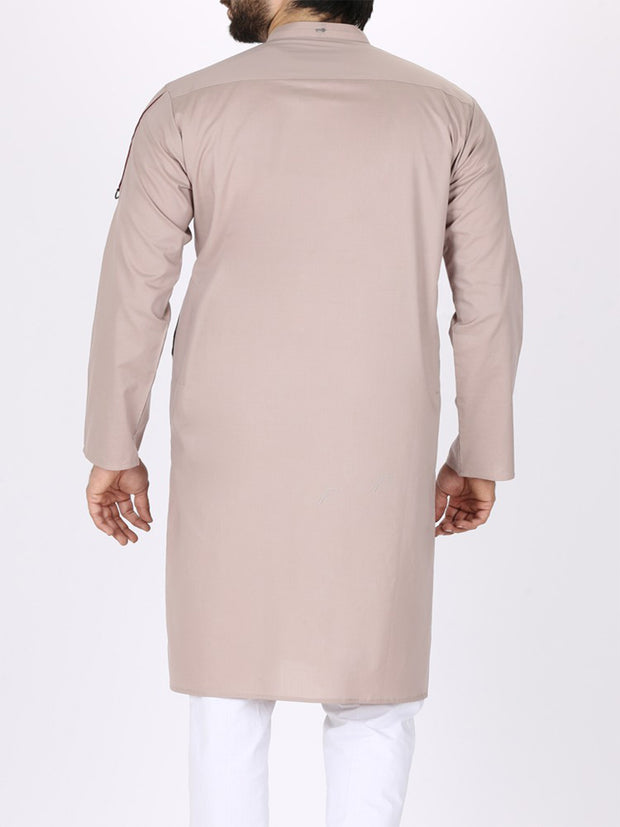 Light Brown Cotton Kurta - AL-K-771