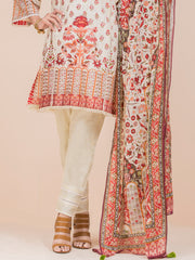 Off White Lawn 3 Piece Stitched - ALP-3PS-776