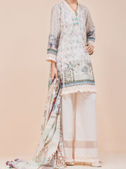 Beige Lawn 3 Piece Stitched - ALP-3PS-781