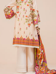 Cream Lawn 3 Piece Unstitched - ALP-3PS-782