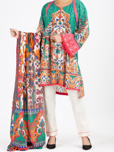 Green Lawn 3 Piece Unstitched - ALP-3PS-798