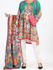 Green Lawn 3 Piece Stitched - ALP-3PS-798