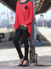 Red Women Top - LSK-2026