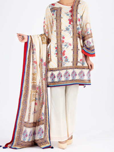 Ivory Lawn 3 Piece Stitched - ALP-3PS-801