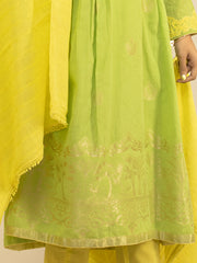 Green Jacquard 3 Piece Stitched - ALP-3PS-846