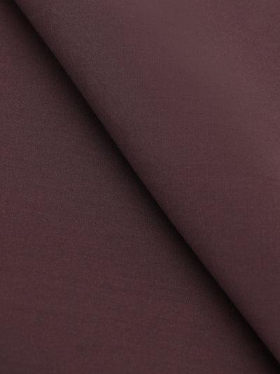 Chocolate Brown Blended Unstitched Fabric - Johar-854D