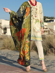 Ivory Lawn 3 Piece Unstitched - ALP-3PS-882