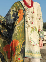 Ivory Lawn 3 Piece Stitched - ALP-3PS-882
