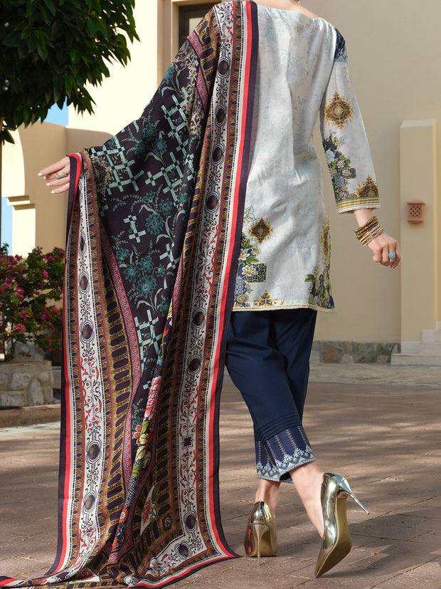 Blue Lawn 3 Piece Stitched - ALP-3PS-883