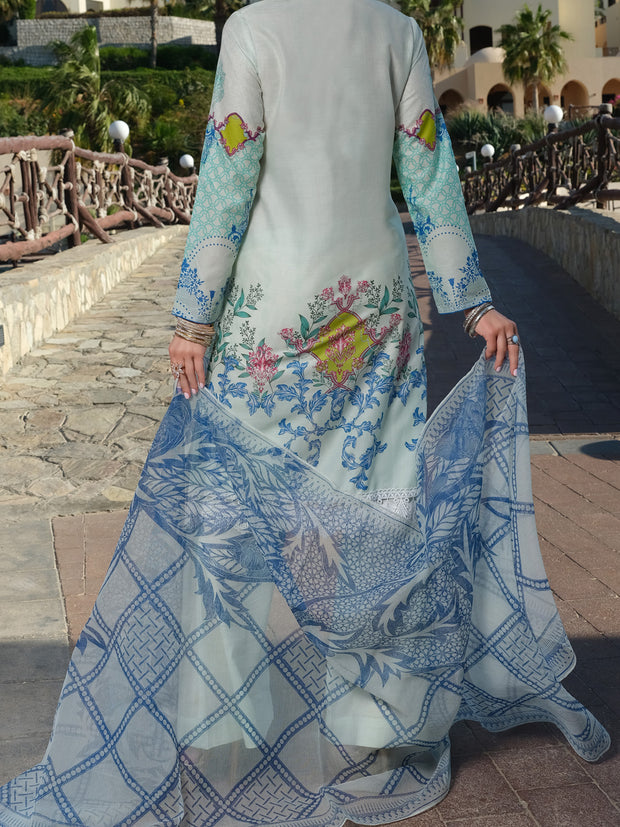 Aqua Lawn 3 Piece Stitched - ALP-3PS-889