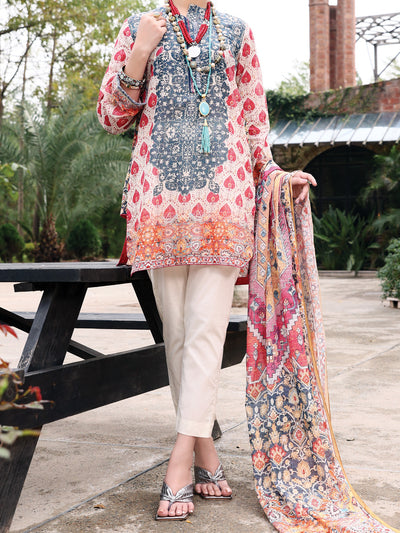 Pink Lawn 3 Piece Stitched - ALP-3PS-926