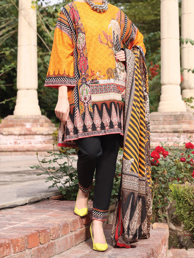 Almirah ALP-3PS 929 Orange Lawn Collection