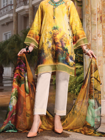 Almirah ALP-3PS 941 Yellow Lawn Collection
