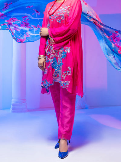Pink Georgette 3 Piece Stitched - ALP-3PS-953/S