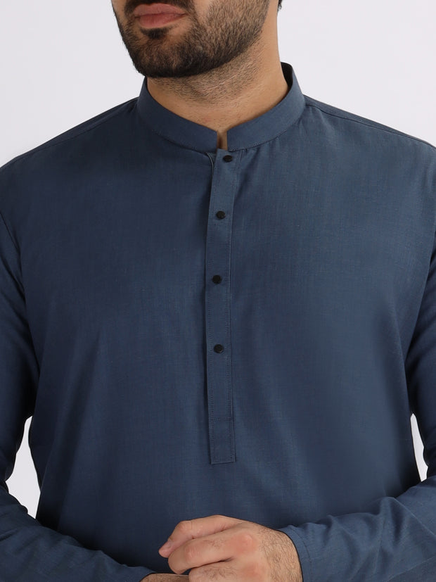 Blue Blended Kurta - AL-K-821