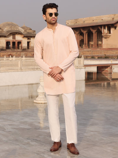 Pink Cotton Kurta - AL-K-892