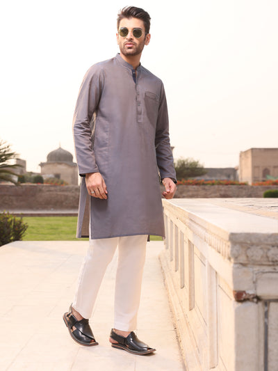 Purple Cotton Kurta - AL-K-903