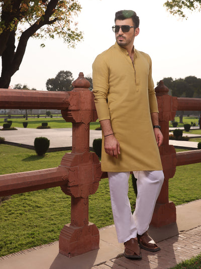 Light Green Cotton Kurta - AL-K-911