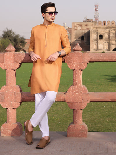 Mustard Cotton Kurta - AL-K-924