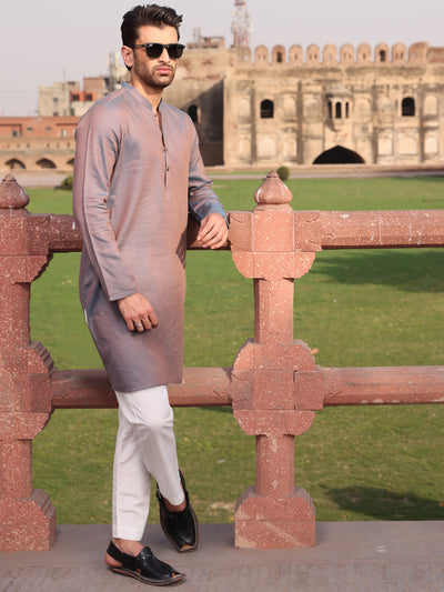 Purple Cotton Kurta - AL-K-927
