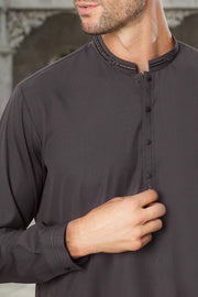Grey Blended Kameez Shalwar - AL-KS-2436