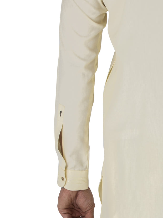 Off White Blended Kameez Shalwar - AL-KS-2441