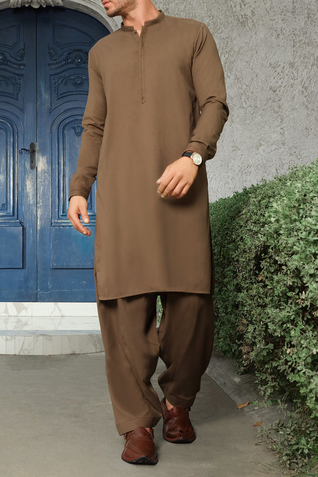 Green Blended Kameez Shalwar - AL-KS-2465