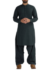 Green Blended Kameez Shalwar - AL-KS-2485